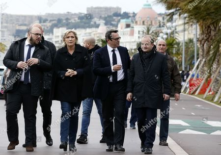 Marine Le Pen, Philippe Vardon, Olivier Bettati and David Rachline