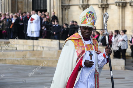 Archbishop of York John Sentamu at the funeral of of 7-year-old daughter Katie Rough at York Minster in North Yorkshire.