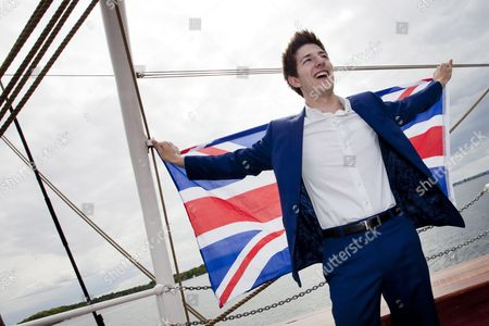 British Singer Josh Dubovie Poses on Deck of Sail Training Ship 'Christian Radich' During a Boat Trip on the Oslofjord Norway 25 May 2010 Dubovie Will Represent the Uk at the 2010 Eurovision Song Contest in Oslo the Contest's First Semi-final Takes Place on 25 May Norway Oslofjorden