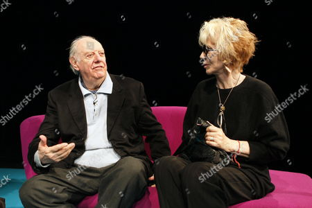 Italian Playwright Dario Fo (l0 and His Wife Franca Rame Talk As They Visit the National Theatre in Oslo Norway 05 May 2010 Norway Oslo