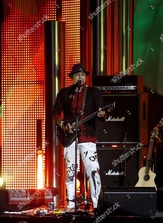 Pakistani Musician Salman Ahmad and His Band Junoon During the Nobel Peace Prize Concert in Oslo Norway 11 December 2007 Artists From All Over the World Gathed at the Oslo Spektrum to Help to Spread the Message of Peace and Celebrate This Year's Nobel Peace Prize Laureates Norway Oslo