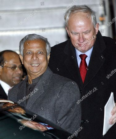 The 2007 Nobel Peace Prize Laureate Muhammad Yunus Arrives at Oslo Airport Gardermoen Accompanied by the Director of the Norwegian Nobel Institute and Permanent Secretary to the Norwegian Nobel Peace Prize Committee Geir Lundestad (r) Friday 08 December 2006 the Nobel Peace Prize Award Ceremony Will Take Place in Oslo Town Hall Sunday 10 December 2006 on the Anniversary of the Death of the Founder of the Nobel Prize Awards Swedish Dynamite Inventor Alfred Nobel Norway Gardermoenm