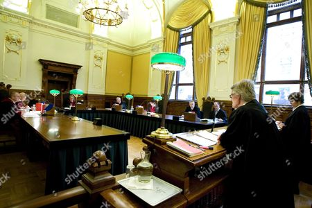 General View of Norway's Supreme Court in Oslo 02 November 2007 During a Hearing Appeal by a Young Norwegian (not Present in Court) Sentenced to 30 Days in Prison For Throwing a Pie at the Norwegian Minister of Finance Kristin Halvorsen in 2005 Norway Oslo