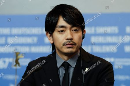 Actor Sho Aoyagi attends a news conference for the film 'Mr. Long' at the 2017 Berlinale Film Festival in Berlin, Germany