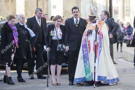Katie Roughs parents Paul & Alison arrive at The funeral of seven year old Katie Rough that has taken place at York Minster today led by the Archbishop of York John Sentamu.