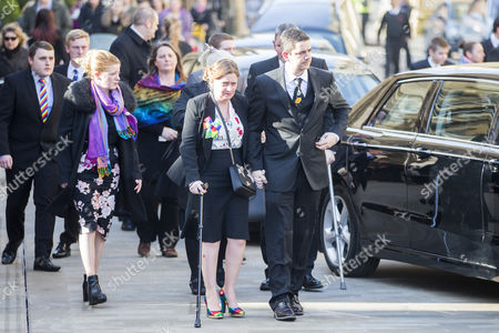 Katie Roughs parents Paul & Alison arrive at The funeral of seven year old Katie Rough that has taken place at York Minster today led by the Archbishop of York Dr John Sentamu.