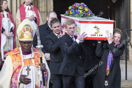 The funeral of seven year old Katie Rough has taken place at York Minster today led by the Archbishop of York John Sentamu.