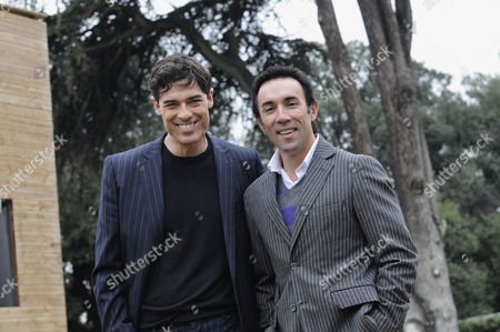 Alessandro Gassman and Francesco Quinn at a photocall for the film 'Four Single Fathers'