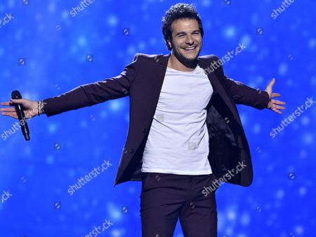 French-israeli Singer Amir Haddad who Represents France Performs the Song 'J'ai Cherche' During a Rehearsal For the 61st Annual Eurovision Song Contest (esc) at the Ericsson Globe in Stockholm Sweden 08 May 2016 the Esc Consists of Two Semi-finals to Be Held on 10 and 12 May and a Grand Final That Will Take Place at the Ericsson Globe on 14 May Sweden Stockholm