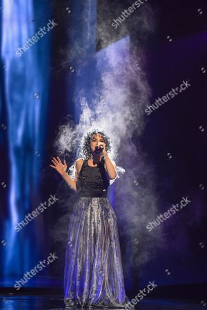 Switzerland's Rykka Performs the Song 'The Last of Our Kind' During the Second Semi-final of the 61st Annual Eurovision Song Contest (esc) at the Ericsson Globe Arena in Stockholm Sweden 12 May 2016 the Event's Grand Final Takes Place on 14 May Sweden Stockholm