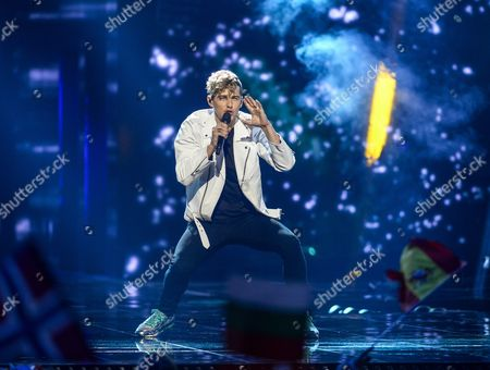 Lithuania's Donny Montell Performs the Song 'I've Been Waiting For This Night' During the Second Semi-final of the 61st Annual Eurovision Song Contest (esc) at the Ericsson Globe Arena in Stockholm Sweden 12 May 2016 the Event's Grand Final Takes Place on 14 May Sweden Stockholm