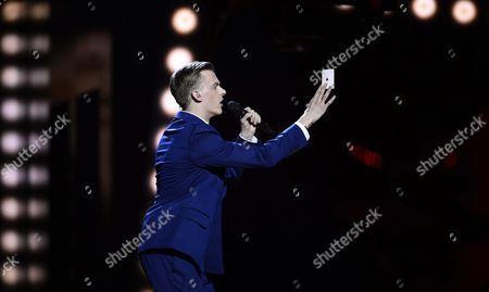 Estonia's Juri Pootsmann Performs the Song 'Play' During Rehearsals For the First Semi-final of the 61st Annual Eurovision Song Contest (esc) at the Ericsson Globe Arena in Stockholm Sweden 09 May 2016 the Event's Grand Final Takes Place on 14 May Sweden Stockholm