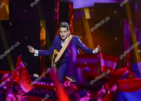 The Netherlands' Douwe Bob Performs with the Song 'Slow Down' During the First Semi-final of the 61st Annual Eurovision Song Contest (esc) at the Ericsson Globe in Stockholm Sweden 10 May 2016 the Second Semi-final Takes Place on 12 May and the Grand Final is Held on 14 May Sweden Stockholm