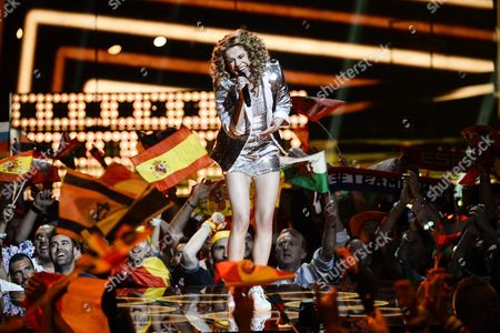 Laura Tesoro Representing Belgium Performs with the Song 'What's the Pressure' During the Grand Final of the 61st Annual Eurovision Song Contest (esc) at the Ericsson Globe Arena in Stockholm Sweden 14 May 2016 There Are 26 Finalists From As Many Countries Competing in the Grand Final Sweden Stockholm