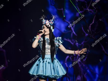 Jamie-lee Kriewitz Representing Germany Performs with the Song 'Ghost' During the Grand Final of the 61st Annual Eurovision Song Contest (esc) at the Ericsson Globe Arena in Stockholm Sweden 14 May 2016 There Are 26 Finalists From As Many Countries Competing in the Grand Final Sweden Stockholm