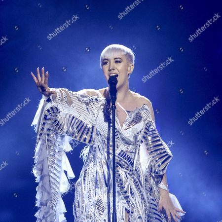 Croatia's Nina Kraljic Performs with the Song 'Lighthouse' During the First Semi-final of the 61st Annual Eurovision Song Contest (esc) at the Ericsson Globe in Stockholm Sweden 10 May 2016 the Second Semi-final Takes Place on 12 May and the Grand Final is Held on 14 May Sweden Stockholm