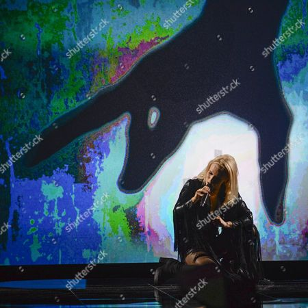 Iceland's Greta Salome Performs with the Song 'Hear Them Calling' During the First Semi-final of the 61st Annual Eurovision Song Contest (esc) at the Ericsson Globe in Stockholm Sweden 10 May 2016 the Second Semi-final Takes Place on 12 May and the Grand Final is Held on 14 May Sweden Stockholm