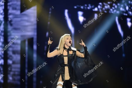 Poli Genova Representing Bulgaria Performs During Rehearsals For the Grand Final of the 61st Annual Eurovision Song Contest (esc) at the Ericsson Globe Arena in Stockholm Sweden 13 May 2016 the Grand Final Takes Place on 14 May Sweden Stockholm