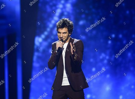Amir Haddad Representing France Performs During Rehearsals For the Grand Final of the 61st Annual Eurovision Song Contest (esc) at the Ericsson Globe Arena in Stockholm Sweden 13 May 2016 the Grand Final Takes Place on 14 May Sweden Stockholm