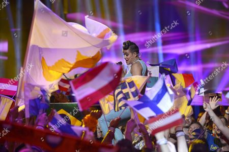 Stock Picture of Finland's Sandhja (back-c) Performs with the Song 'Sing It Away' During the First Semi-final of the 61st Annual Eurovision Song Contest (esc) at the Ericsson Globe in Stockholm Sweden 10 May 2016 the Second Semi-final Takes Place on 12 May and the Grand Final is Held on 14 May Sweden Stockholm