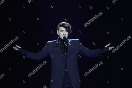 Hovi Star of Israel Performs the Song 'Made of Stars' During Rehearsals For the Second Semi-final of the 61st Annual Eurovision Song Contest (esc) at the Ericsson Globe in Stockholm Sweden 11 May 2016 the Event's Grand Final Takes Place on 14 May Sweden Stockholm
