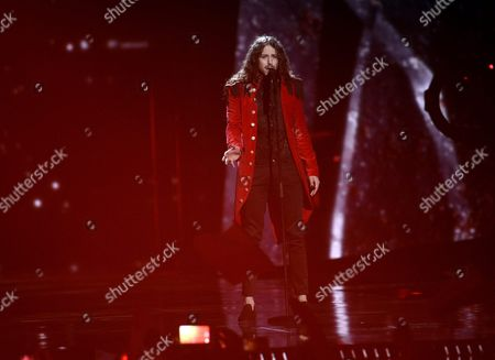 Michal Szpak of Poland Performs the Song 'Color of Your Life' During Rehearsals For the Second Semi-final of the 61st Annual Eurovision Song Contest (esc) at the Ericsson Globe in Stockholm Sweden 11 May 2016 the Event's Grand Final Takes Place on 14 May Sweden Stockholm