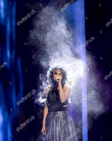 Stock Picture of Switzerland's Rykka Performs the Song 'The Last of Our Kind' During the Second Semi-final of the 61st Annual Eurovision Song Contest (esc) at the Ericsson Globe Arena in Stockholm Sweden 12 May 2016 the Event's Grand Final Takes Place on 14 May Sweden Stockholm