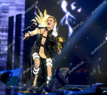 Bulgaria's Poli Genova Performs the Song 'If Love was a Crime' During the Second Semi-final of the 61st Annual Eurovision Song Contest (esc) at the Ericsson Globe Arena in Stockholm Sweden 12 May 2016 the Event's Grand Final Takes Place on 14 May Sweden Stockholm