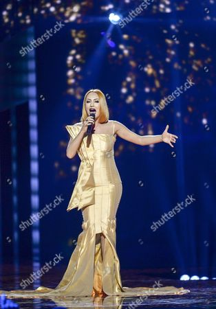 Albania's Eneda Tarifa Performs the Song 'Fairytale' During the Second Semi-final of the 61st Annual Eurovision Song Contest (esc) at the Ericsson Globe Arena in Stockholm Sweden 12 May 2016 the Event's Grand Final Takes Place on 14 May Sweden Stockholm