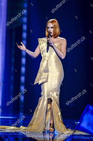 Stock Picture of Albania's Eneda Tarifa Performs the Song 'Fairytale' During the Second Semi-final of the 61st Annual Eurovision Song Contest (esc) at the Ericsson Globe Arena in Stockholm Sweden 12 May 2016 the Event's Grand Final Takes Place on 14 May Sweden Stockholm