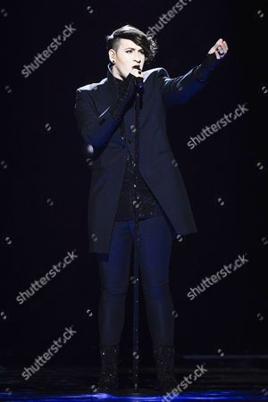 Hovi Star Representing Israel Performs During Rehearsals For the Grand Final of the 61st Annual Eurovision Song Contest (esc) at the Ericsson Globe Arena in Stockholm Sweden 13 May 2016 the Grand Final Takes Place on 14 May Sweden Stockholm