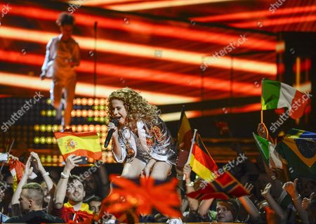 Belgium's Laura Tesoro Performs the Song 'What's the Pressure' During the Second Semi-final of the 61st Annual Eurovision Song Contest (esc) at the Ericsson Globe Arena in Stockholm Sweden 12 May 2016 the Event's Grand Final Takes Place on 14 May Sweden Stockholm