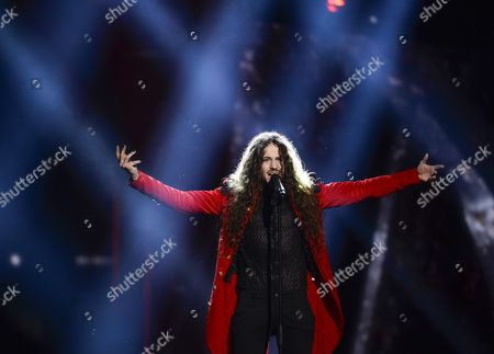Michal Szpak Representing Poland Performs During Rehearsals For the Grand Final of the 61st Annual Eurovision Song Contest (esc) at the Ericsson Globe Arena in Stockholm Sweden 13 May 2016 the Grand Final Takes Place on 14 May Sweden Stockholm