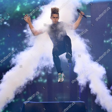 Donny Montell Representing Lithuania Performs During Rehearsals For the Grand Final of the 61st Annual Eurovision Song Contest (esc) at the Ericsson Globe Arena in Stockholm Sweden 13 May 2016 the Grand Final Takes Place on 14 May Sweden Stockholm