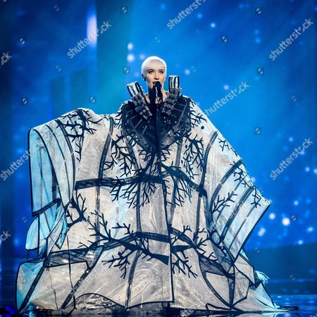 Nina Kraljic Representing Croatia Performs During Rehearsals For the Grand Final of the 61st Annual Eurovision Song Contest (esc) at the Ericsson Globe Arena in Stockholm Sweden 13 May 2016 the Grand Final Takes Place on 14 May Sweden Stockholm