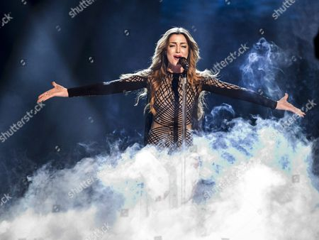Iveta Mukuchyan Representing Armenia Performs During Rehearsals For the Grand Final of the 61st Annual Eurovision Song Contest (esc) at the Ericsson Globe Arena in Stockholm Sweden 13 May 2016 the Grand Final Takes Place on 14 May Sweden Stockholm