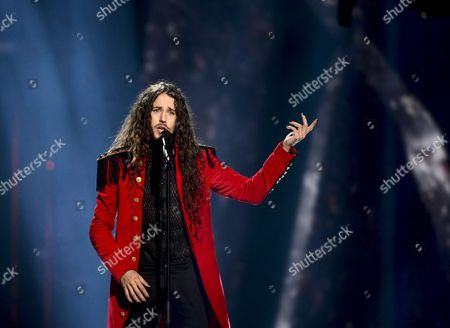 Michal Szpak Representing Poland Performs with the Song 'Color of Your Life' During the Grand Final of the 61st Annual Eurovision Song Contest (esc) at the Ericsson Globe Arena in Stockholm Sweden 14 May 2016 There Are 26 Finalists From As Many Countries Competing in the Grand Final Sweden Stockholm