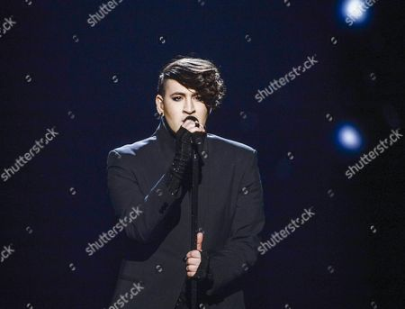 Hovi Star Representing Israel Performs with the Song 'Made of Stars' During the Grand Final of the 61st Annual Eurovision Song Contest (esc) at the Ericsson Globe Arena in Stockholm Sweden 14 May 2016 There Are 26 Finalists From As Many Countries Competing in the Grand Final Sweden Stockholm