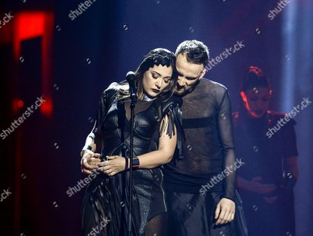 Sanja Vucic (l) of Zaa Representing Serbia Performs with the Song 'Goodbye' During the Grand Final of the 61st Annual Eurovision Song Contest (esc) at the Ericsson Globe Arena in Stockholm Sweden 14 May 2016 There Are 26 Finalists From As Many Countries Competing in the Grand Final Sweden Stockholm