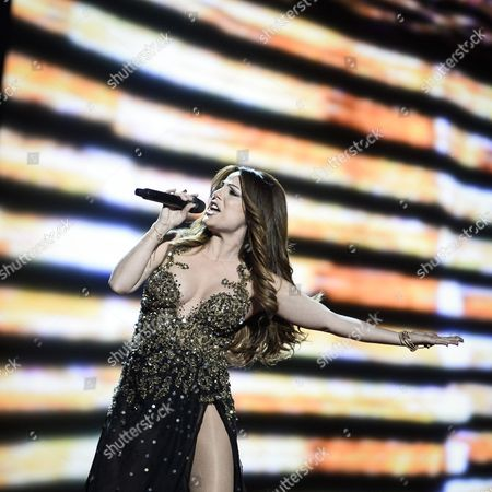 Ira Losco Representing Malta Performs with the Song 'Walk on Water' During the Grand Final of the 61st Annual Eurovision Song Contest (esc) at the Ericsson Globe Arena in Stockholm Sweden 14 May 2016 There Are 26 Finalists From As Many Countries Competing in the Grand Final Sweden Stockholm