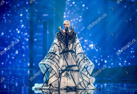 Nina Kraljic Representing Croatia Performs with the Song 'Lighthouse' During the Grand Final of the 61st Annual Eurovision Song Contest (esc) at the Ericsson Globe Arena in Stockholm Sweden 14 May 2016 There Are 26 Finalists From As Many Countries Competing in the Grand Final Sweden Stockholm