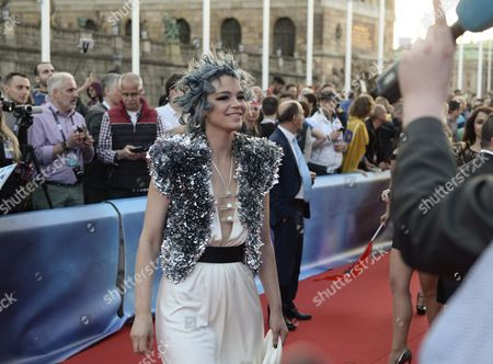 Contestant Rykka of Switzerland Poses on the Red Carpet During the Official Opening Ceremony For the 61st Annual Eurovision Song Contest (esc) at the Euroclub in Stockholm Sweden 08 May 2016 the Esc Consists of Two Semi-finals to Be Held on 10 and 12 May and a Grand Final That Will Take Place at the Ericsson Globe on 14 May Sweden Stockholm