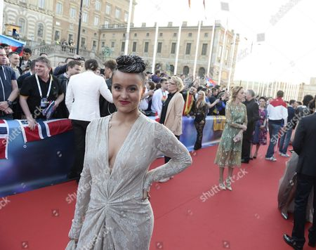 Contestant Sandhja of Finland Poses on the Red Carpet During the Official Opening Ceremony For the 61st Annual Eurovision Song Contest (esc) at the Euroclub in Stockholm Sweden 08 May 2016 the Esc Consists of Two Semi-finals to Be Held on 10 and 12 May and a Grand Final That Will Take Place at the Ericsson Globe on 14 May Sweden Stockholm