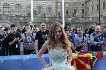 Contestant Zoe Straub of Austria Poses on the Red Carpet During the Official Opening Ceremony For the 61st Annual Eurovision Song Contest (esc) at the Euroclub in Stockholm Sweden 08 May 2016 the Esc Consists of Two Semi-finals to Be Held on 10 and 12 May and a Grand Final That Will Take Place at the Ericsson Globe on 14 May Sweden Stockholm