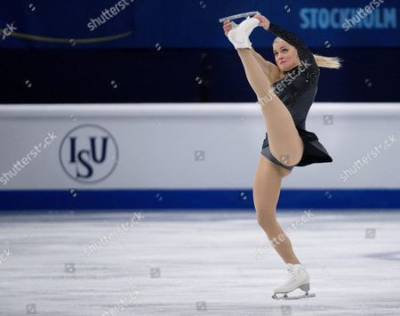 Finland's Kiira Korpi Skates Her Short Program During the European Figure Skating Championships in Stockholm Sweden Thursday Jan 29 2015 Sweden Stockholm
