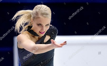 Finland's Kiira Korpi Performs the Women's Short Program During the European Figure Skating Championships in the Globe Arena in Stockholm Sweden 29 January 2015 Sweden Stockholm