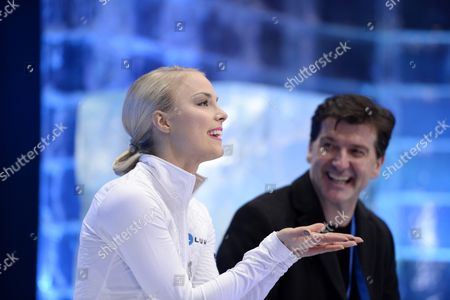 Finland's Kiira Korpi Reacts After the Women's Short Program During the European Figure Skating Championships in the Globe Arena in Stockholm Sweden 29 January 2015 Sweden Stockholm