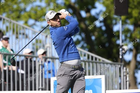 England's Oliver Wilson Tees Off During the Third Round of the Nordea Masters Golf Tournament at Bro Hof Golf Club in Stockholm Sweden 04 June 2016 Sweden Stockholm