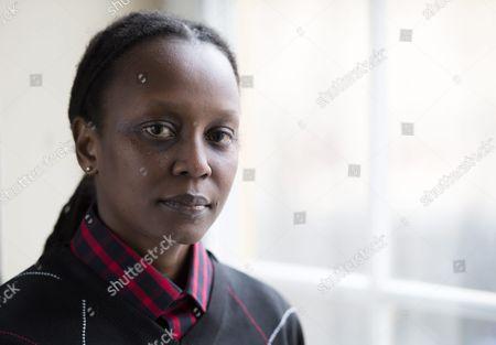 Stock Image of Ugandan Lgbt Rights Activist Kasha Jacqueline Nabagesera Poses During a Press Meeting in Stockholm Sweden 27 November 2015 Nabagesera Visits Stockholm As Recipient of the 2015 Right Livelihood Award Often Called the 'Alternative Nobel Prize' Sweden Stockholm