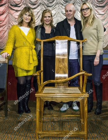 Recopped Version the Image Made Available on 06 November 2013 Shows the Swedish Members of the Stockholm Film Festival Jury (l-r) Actress Lena Endre Producer Helena Danielsson Film Director Kristian Petri and Actress Moa Gammel Posing with the Empty Chair of Their Fellow Jury Member Chinese Dissident Artist Ai Weiwei in Stockholm Sweden on 05 November the Chair was Sent by Ai Weiwei to Represent Him As a Commentary to His Forced Non Attendance the Chair Built in a Traditional Chinese Style is Impossible to Use with a Curved Cane Fixed Diagonally Across the Seat the Film Festival Runs From 06 to 17 November Sweden Stockholm